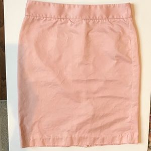 J Crew Pink Pencil Skirt Size 6